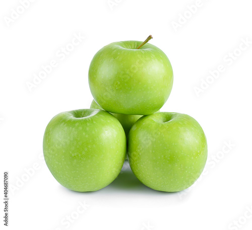 Papel de parede Close-up Of Granny Smith Apples Against White Background