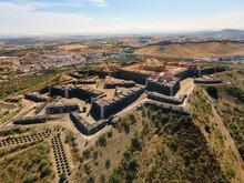 Aerial View Of Fortress In Elvas, Alentejo, Portugal