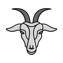 Domestic Goat Isolated Vector Icon That Can Be Easily Modified Or Edited