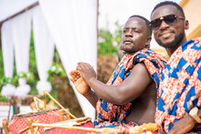 Selective Focus Of Traditional African Guys, With Musical Instruments- Music Concept