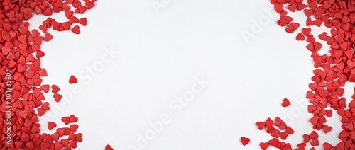 background for valentine's day with small hearts and copy space Wallpaper Mural