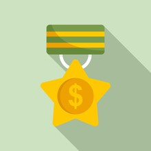 Trade War Medal Icon. Flat Illustration Of Trade War Medal Vector Icon For Web Design