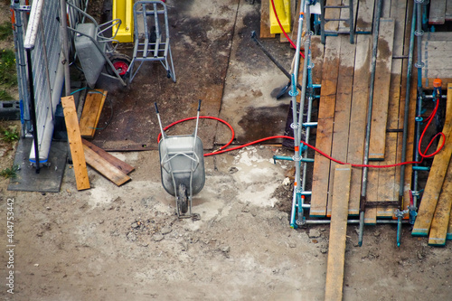 Fotografering High Angle View Of Construction Site