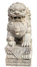Guardian Lion Foo Dog Marble Sculpture Garden Carvings