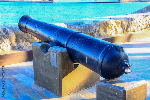 great naval cannon of the 18th century Fototapet