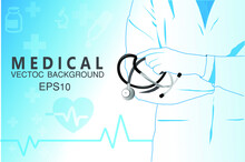 Abstract Futuristic Medical Vector Blue Wallpaper