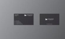 Clean And Modern Minimalist Dark Color Business Card Design Vector Illustration