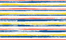 Ink Hand Drawn Straight Lines Vector Seamless Pattern. Handmade Interior Wall Decor Design. Retro