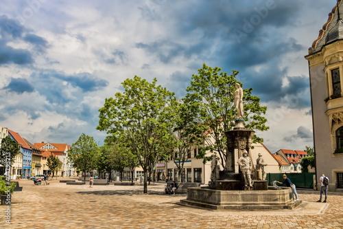 schönebeck, deutschland - marktbrunnen in der altstadt © ArTo