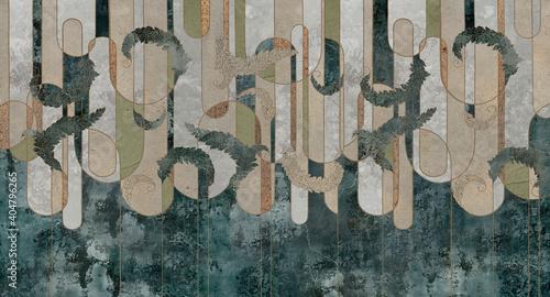 Tapety Loftowe  design-w-stylu-loftowym-klasycznym-barokowym-nowoczesnym-rokoko-geometria-graficzna-na-tle-betonu-grunge-ciemna-fototapeta-fototapeta-fototapeta-karta-projekt-pocztowki