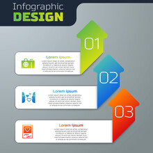Set Photo Camera, Love At First Sight And Frames And Hearts. Business Infographic Template. Vector.