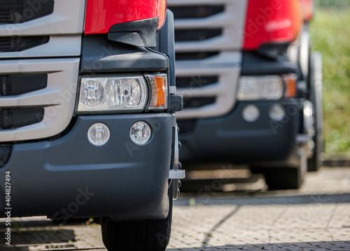 Obraz na plátně Semi Truck Parking Lot