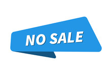 No Sale Images. No Sale Banner Vector Illustration