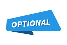 Optional Image. Optional Banner Vector Illustration