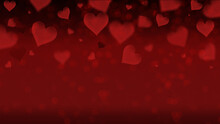 A Poster Banner For Sales And Discounts With A Simple Image Of Hearts On A Red Background, The Concept Of Love, Bachelorette Party, Wedding. Image With Place For Text