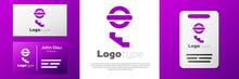 Logotype London Underground Icon Isolated On White Background. Logo Design Template Element. Vector.
