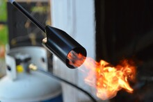 Close-up Of Flame Propane Torch