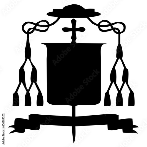 Leinwand Poster escudo de obispo