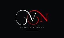 NV, VN, N, V Abstract Letters Logo Monogram