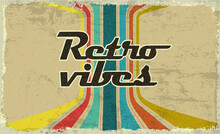 Retro Vibes. 70s And 80s  Glitch Style. VHS Cover Effect. Old Fashion Style Lines. Retro Vintage Cover. Seventies And Eighties Banner Or Poster Design. Easy Editable Design Template. Music Web Banner.
