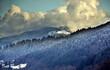 Blick von Freiburg auf ein Bergpanorama im Winter