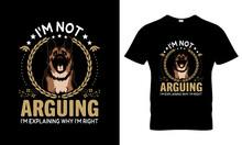 German Shepherd T Shirt Design Vector, T Shirt Design Concept, Crazy German Shepherd T Shirt Design,