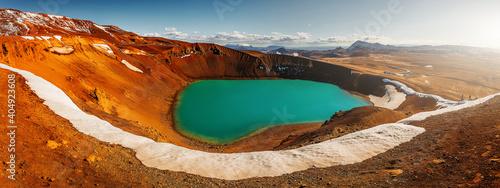 Papel de parede Majestic Viti crater in Krafla volcanic area, Iceland