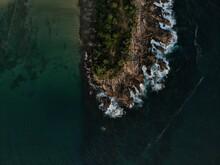 Drone Shot Coastline Sri Lanka