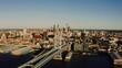 Philadelphia, Aerial View, Benjamin Franklin Bridge, Delaware River
