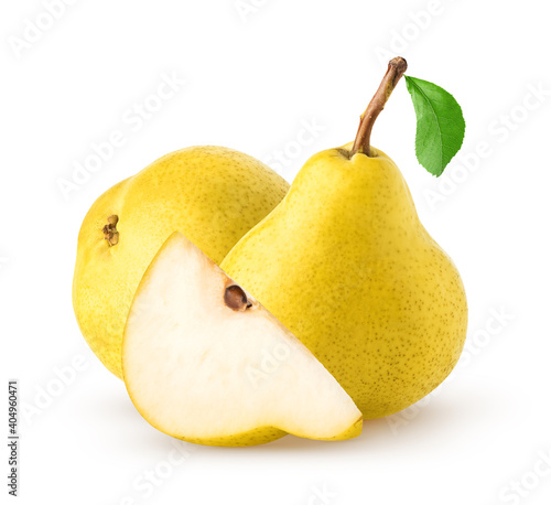 Fotografie, Obraz Isolated pears