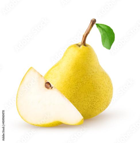 Fototapeta Isolated pears