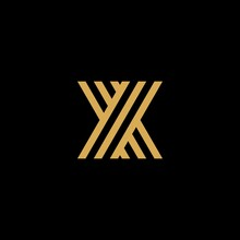Letter X Creative Modern Monogram Logo, Many Parallel Lines Smooth Geometric Shapes