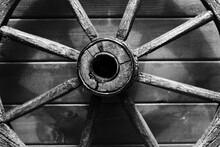 Close-up Of Wagon Wheel