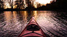 Kayak On Purple Lake