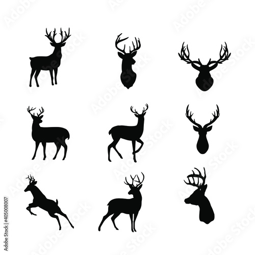 Canvas deer silhouette collection