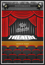 Vintage Colored Theatre Advertising Poster