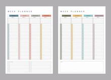 Undated Vertical Weekly Planner. Printable Planner Inserts Hourly Weekly Planner. Hourly Planner. Time Management.