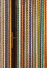 White Blue And Brown Striped Textile