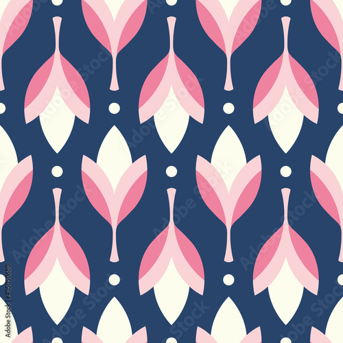Valokuvatapetti Floral pattern design