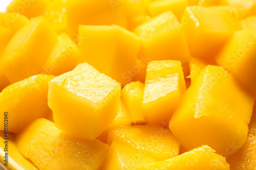 Foto Sweet cut mango as background