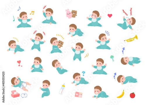 Fotografering flat type baby_Emotion