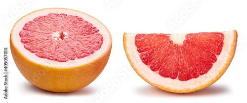 Fotografia, Obraz Fresh organic grapefruit isolated