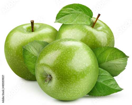Papel de parede Isolated apple with leaf