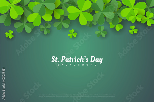 Canvas Print st patrick's day background with leafy leaves.