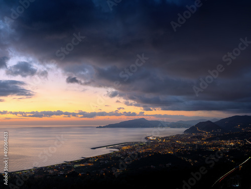 Obraz Scenic View Of Sea Against Dramatic Sky During Sunset - fototapety do salonu