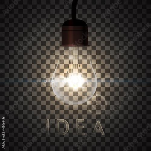 Fotografie, Obraz Realistic edison ligt bulb