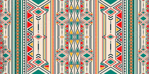Fotografie, Obraz Ikat geometric folklore ornament for ceramics, wallpaper, textile, web, cards