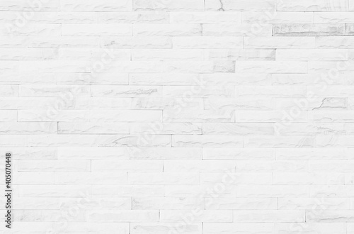 Leinwand Poster White grunge brick wall texture background for stone tile block painted in grey
