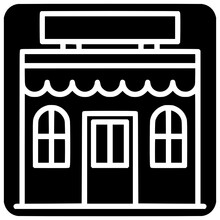 Bakery Shop Icon Outline Style Vector Outline, Black, Line, Store, Storefront, Front, Shop, Icon, Bakery, Isolated, Fashion, Building
