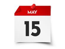 May 15 Day Calendar